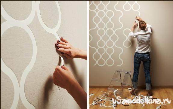 Как поклеить стены на кухне своими руками 36