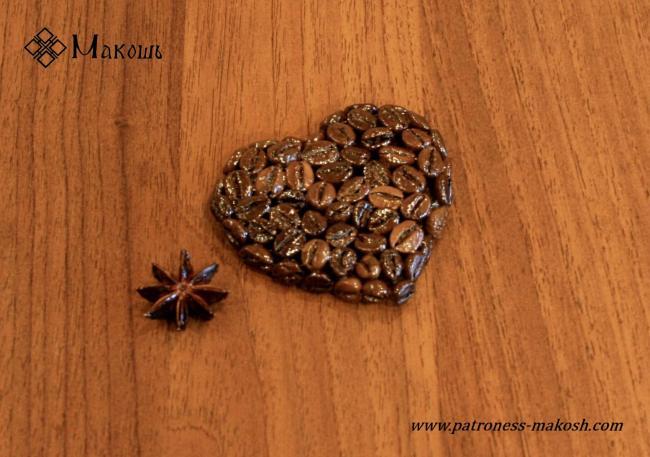 Ароматный магнит на холодильник с запахом кофе