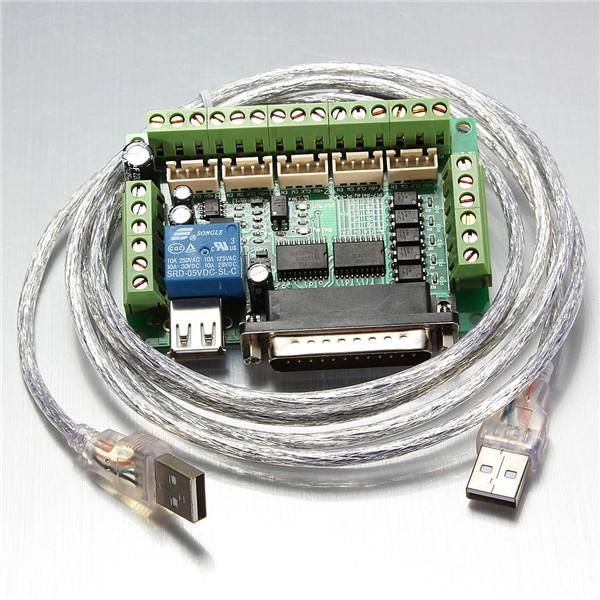 5 осевой ЧПУ адаптер Breakout для драйвера шагового двигателя Mach3