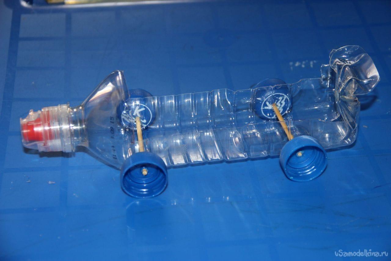 Самолет из пластиковых бутылок пошагово