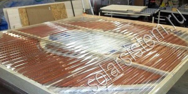 Как сделать большой солнечный коллектор из PEX трубы
