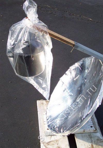 Солнечная печь из спутниковой антенны своими руками