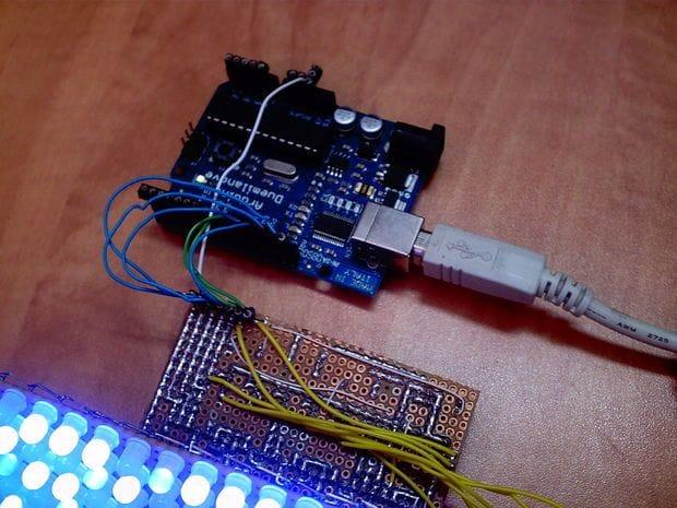 Светодиодная матрица 24х6 на Arduino
