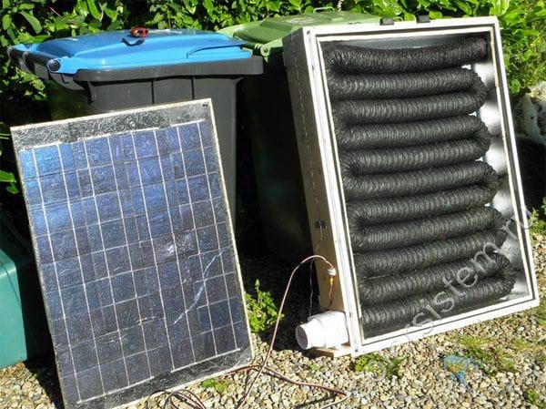 Изготавливаем солнечный воздушный коллектор на 500 Вт из гофрированной трубы