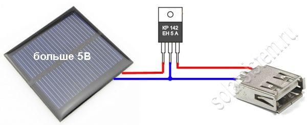 Простейшее зарядное устройство на солнечных батареях
