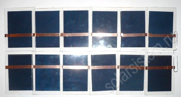 Раскладная портативная солнечная батарея
