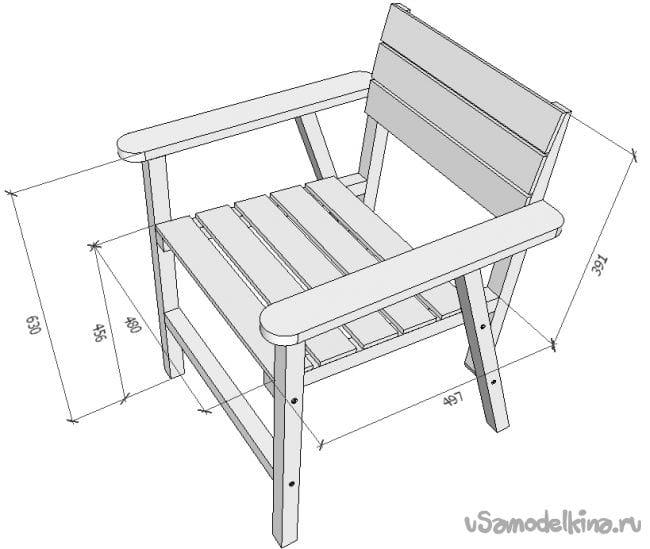 Схема стула из дерева своими руками 93