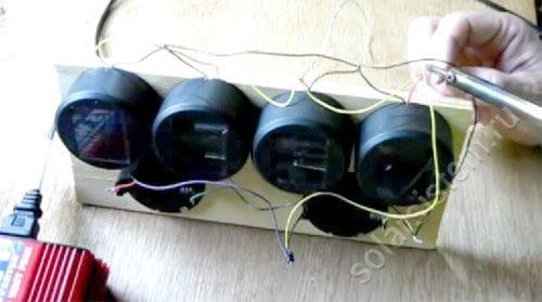 Зарядка из садовых светильников своими руками
