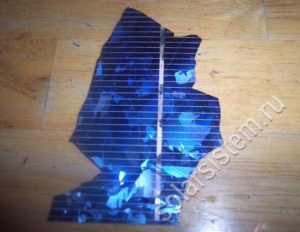 Солнечная батарея из разбитых элементов