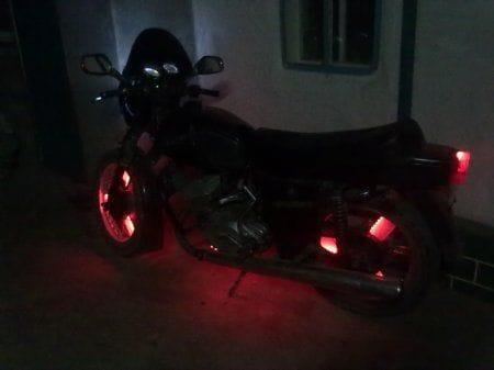 Самодельная подсветка колёс на Юпитер