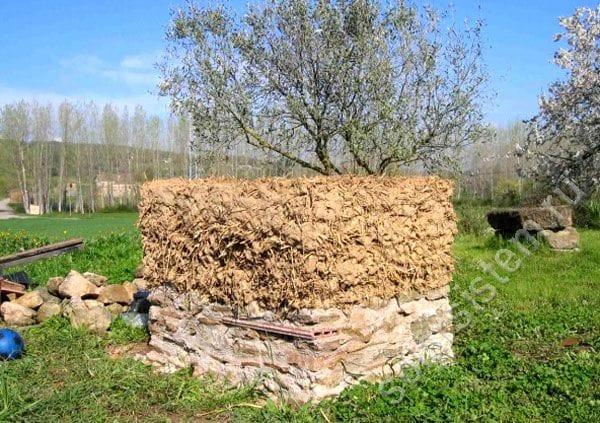 Стационарная солнечная печь из глины