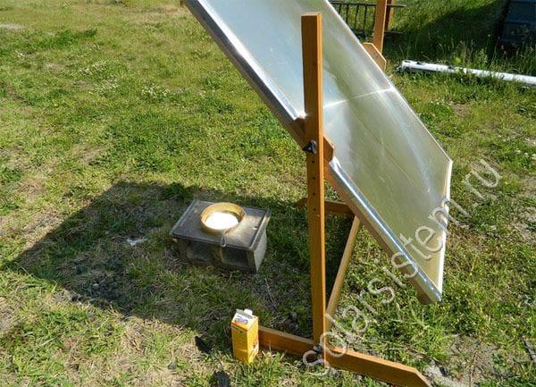 Солнечная печь из линзы френеля