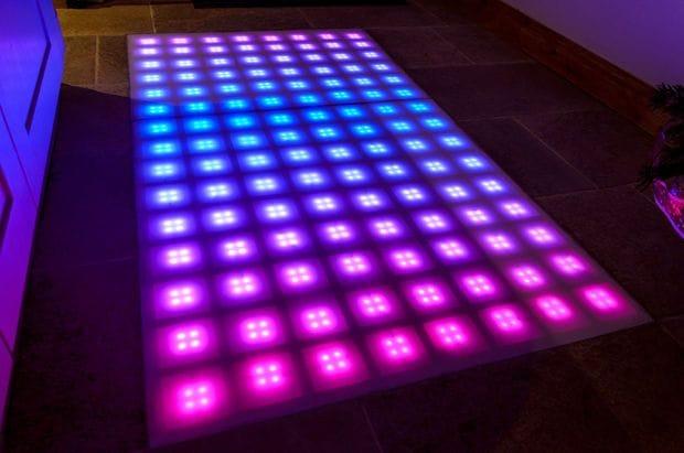 Светодиодный диско-пол на Arduino