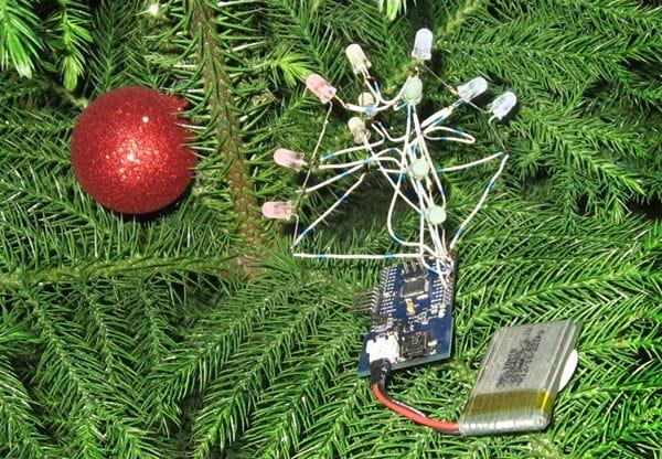 Светодиодная гирлянда на Arduino за вечер