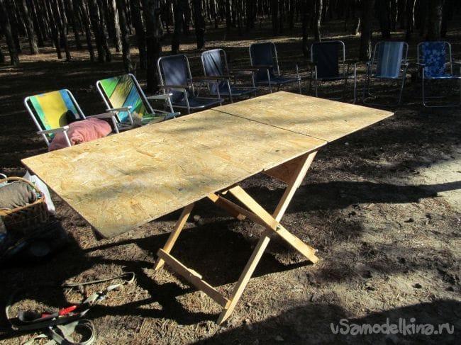 Делаем складной стол для пикника