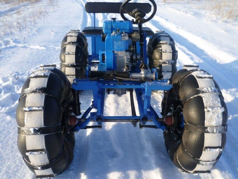Снегоход своими руками на шинах 11