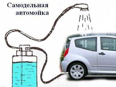 Самодельная автомойка от прикуривателя