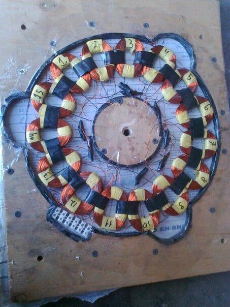 Аксиальный генератор на ферритовых магнитах