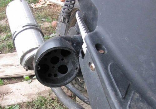Самодельный воздухозаборник для скутера