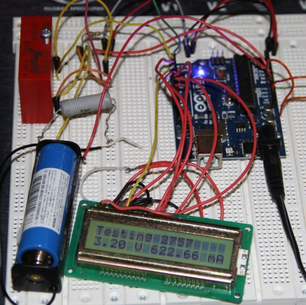 Измеритель емкости Li-Ion аккумуляторов