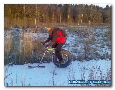 Велосипед снегокат своими руками