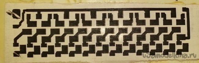 Перевод рисунка печатной платы без нагрева