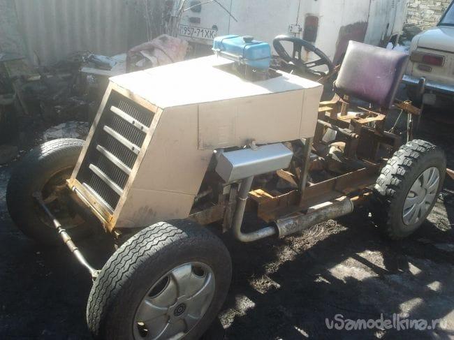 Самодельный Мини Трактор с двигателем от мотоцикла Паннония