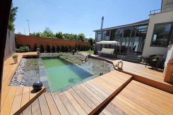 2 в 1: бассейн и пруд