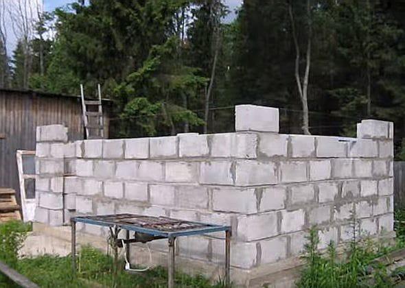Баня из пеноблоков своими руками