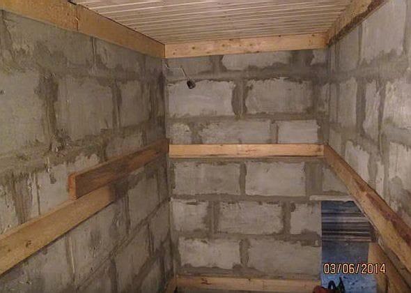 Внутренняя отделка бани из пеноблоков