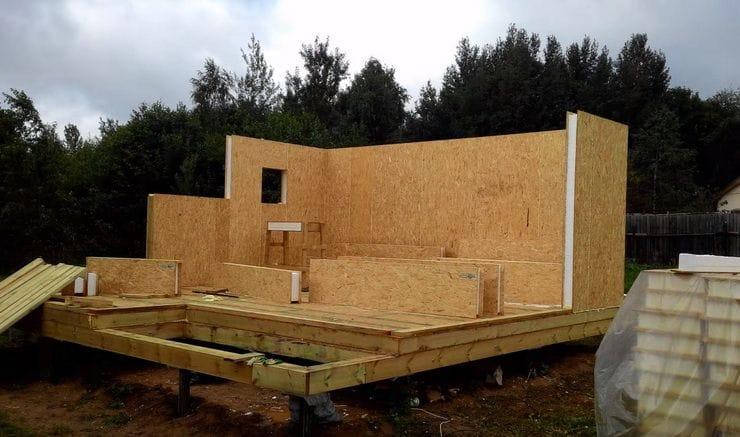 Постройка дома своими руками панель