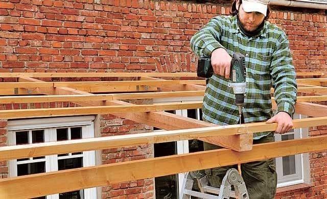 Как покрыть крышу веранды профлистом