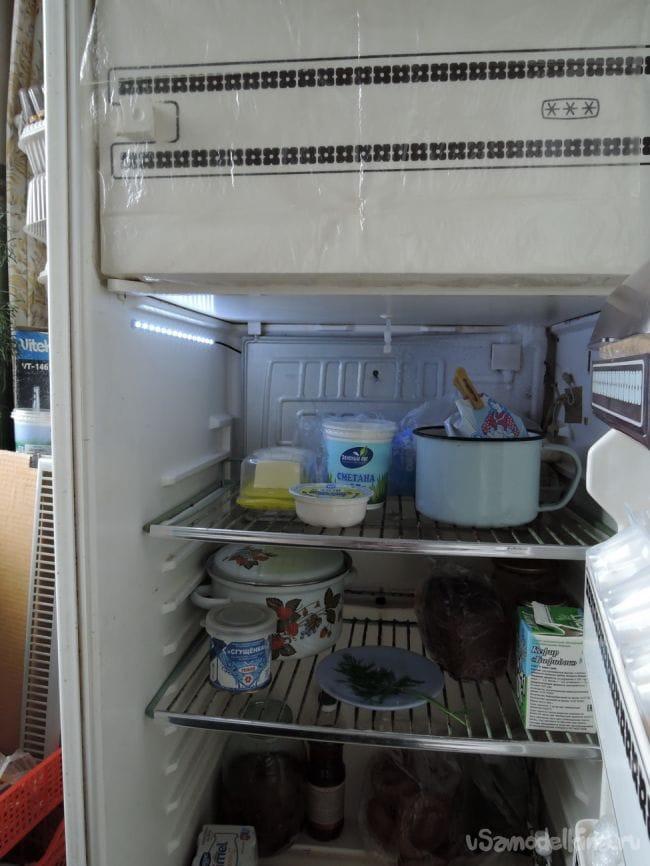 Свет в холодильнике на светодиодах