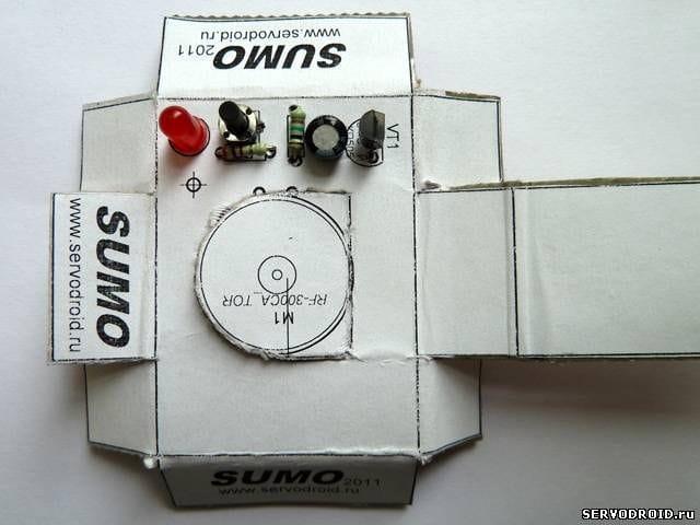 Простой робот для соревнований в SUMO своими руками