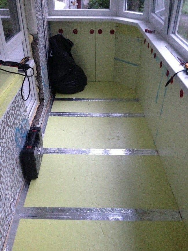 Пристройка балкона на 1-ом этаже с нуля