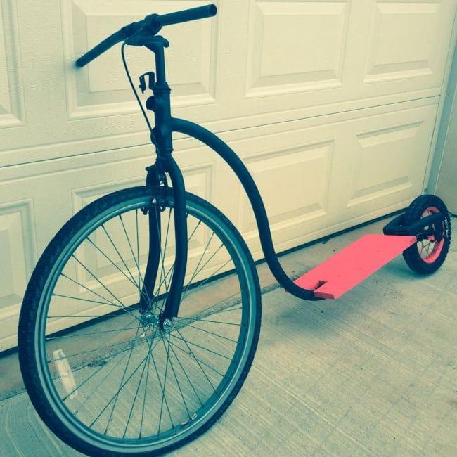 Самодельный самокат из старых велосипедов своими руками