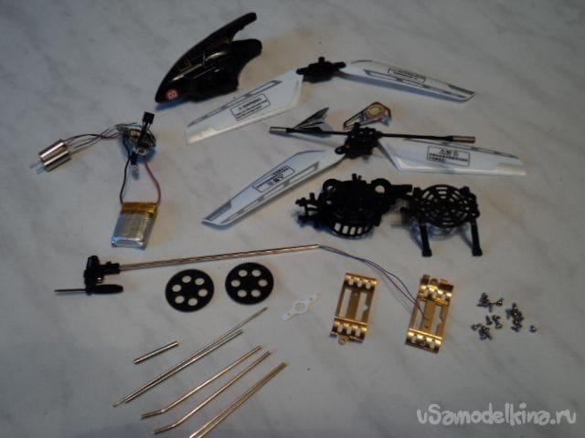 Микро-вентилятор из игрушки-вертолётика