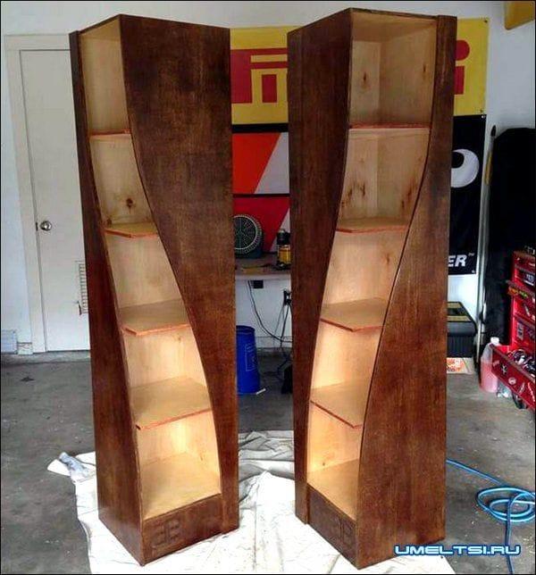 Книжные шкафы своими руками из дерева