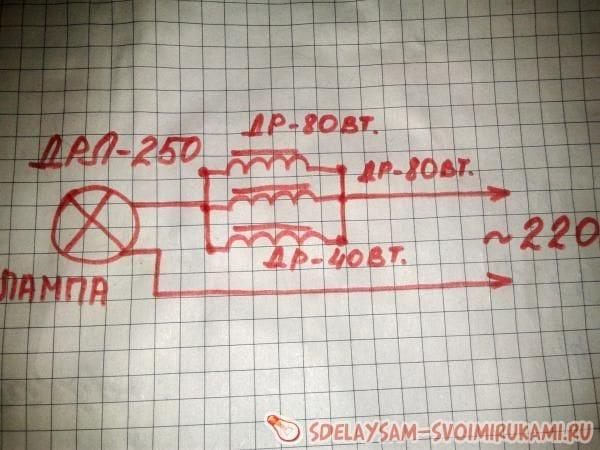 Создание  самодельного дросселя на лампу ДРЛ 250