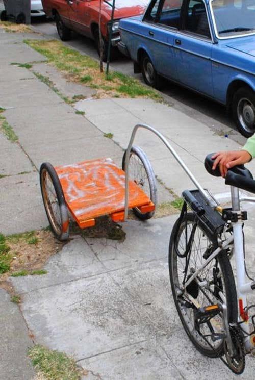 Как сделать прицеп на велосипед без сварки 117