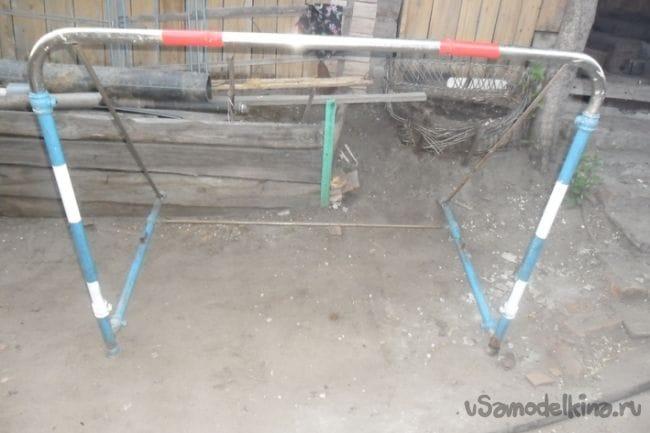 Футбольные ворота для внука из панцирной кровати