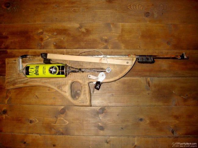 Пружинно-поршневой дроткострел из подручных материалов