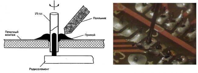 Иглы для демонтажа дискретных компоненетов