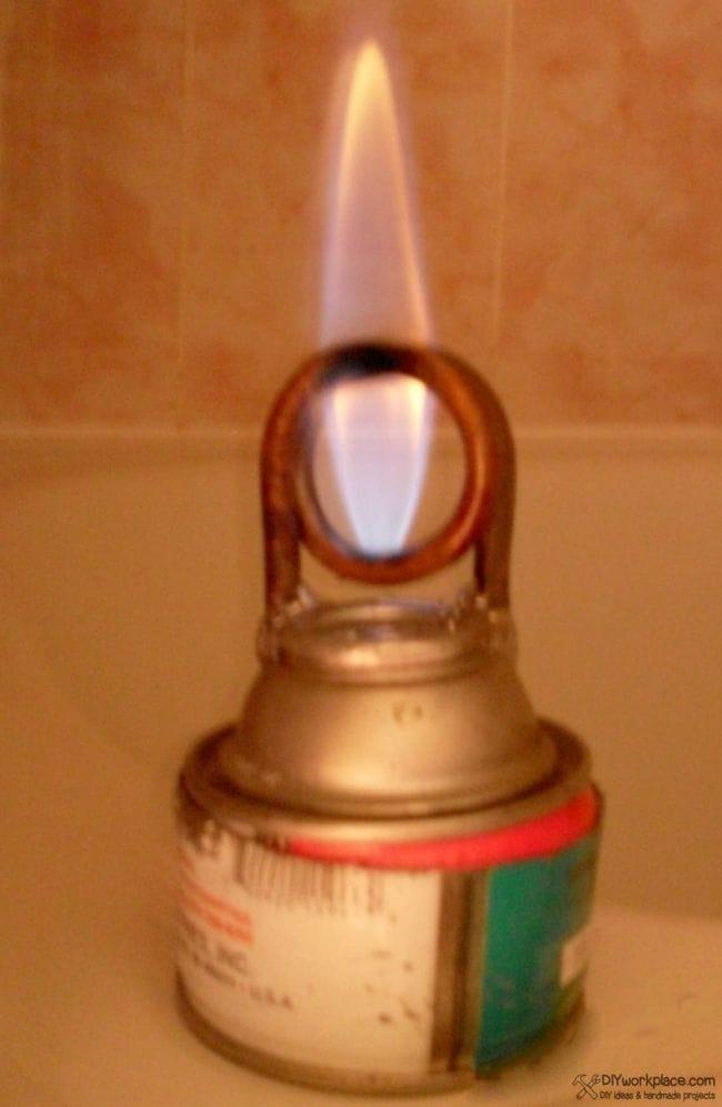 Самодельная спиртовая горелка по аналогии паяльной лампы