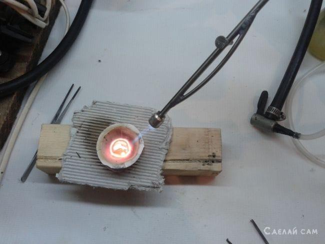 Бензиновая горелка из телескопической антены
