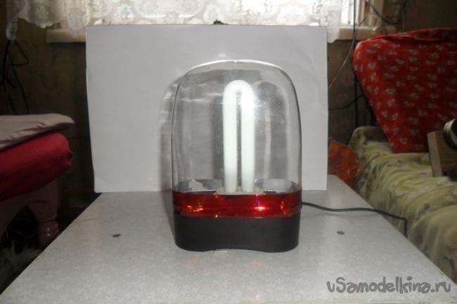 Ночник для внука из сгоревшей люминесцентной лампы