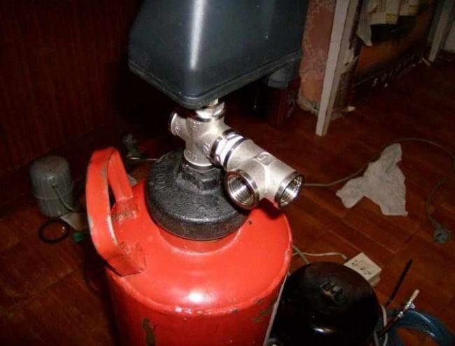 Компрессор для аэрографа из огнетушителя и холодильника