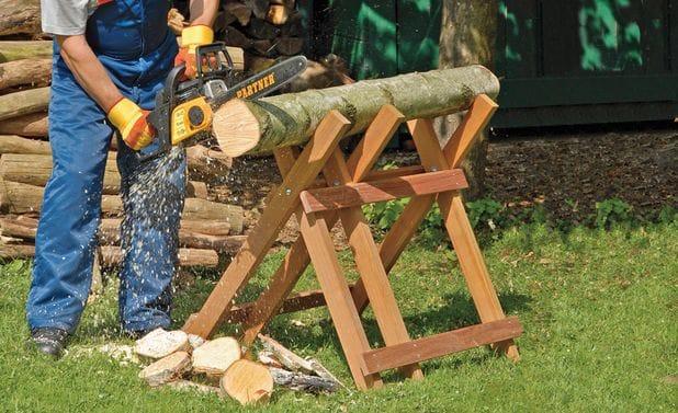 Раскладной козел для пилки дров