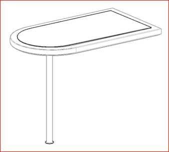 Барный столик с подсветкой