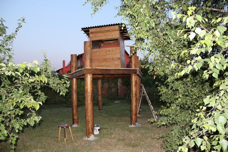 Детский спортивный комплекс для дома своими руками из дерева